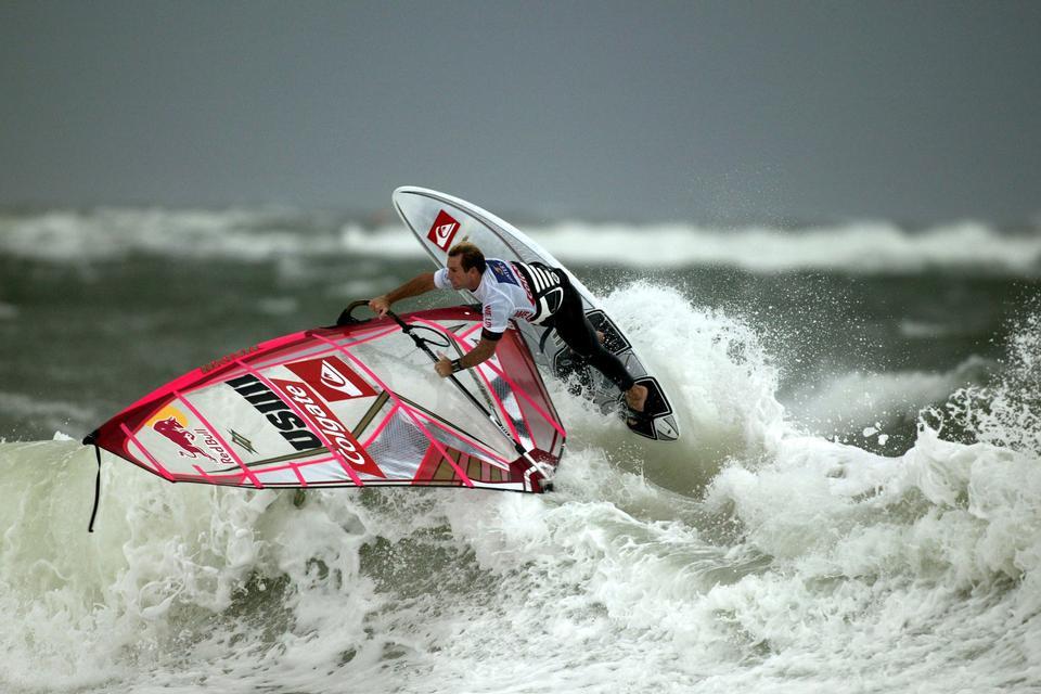 Kiteboarding. Fun in the ocean, Extreme Sport Kitesurfing.