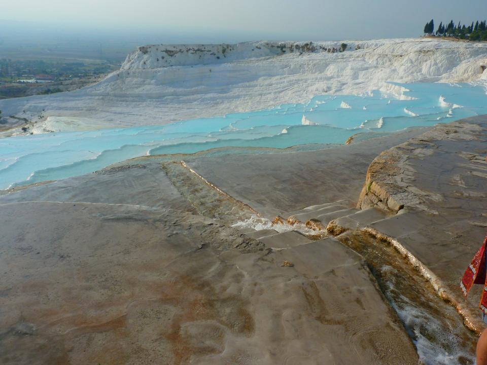 Nature landmarks in Turkey-turquoise water.