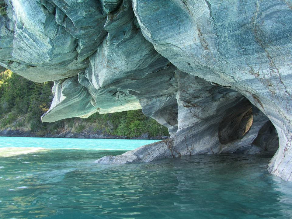 Unique marble caves. General Carrera lake. North of Patagonia