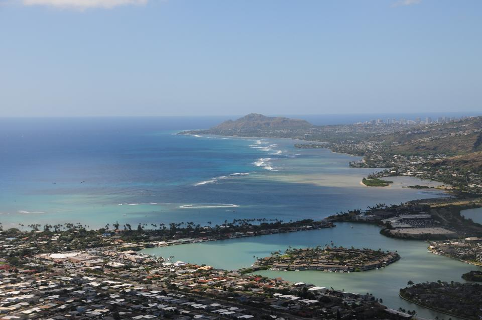 Hanauma Bay from atop Koko Head Crater