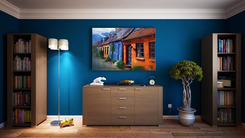 Diseño de interiores: Gran salón moderno