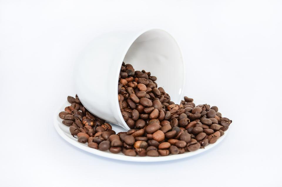 coffee cup full of grain
