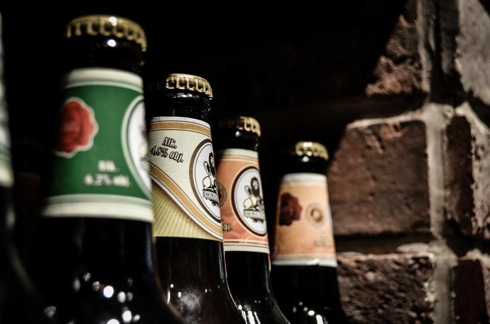 bouteilles de bière Frosty