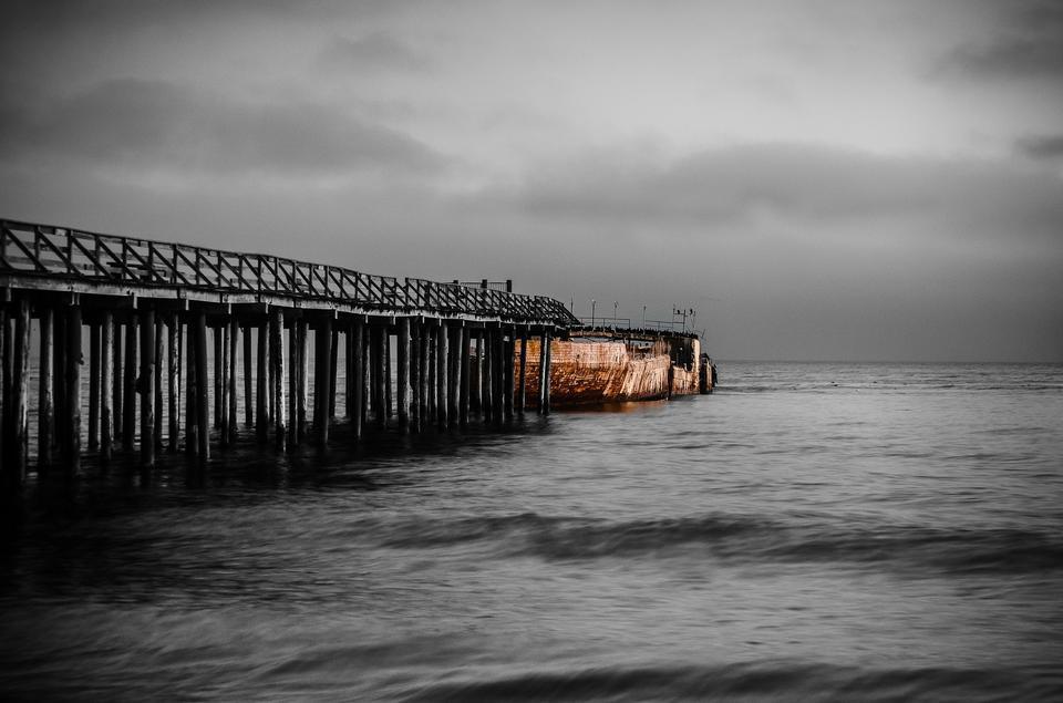 Seacliff state beach in Aptos near Santa Cruz California.