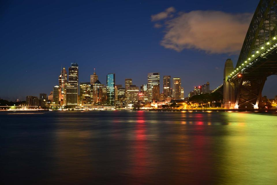 This image shows the Sydney Skyline as seen from Milsons Point,