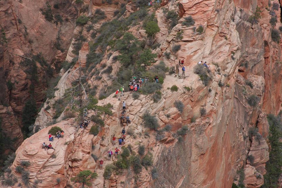 Chemin Angels Landing dans Zion parc national