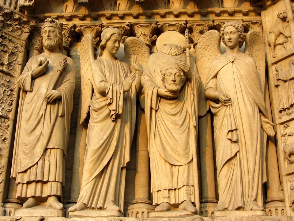statues de Notre Dame de Paris de saints