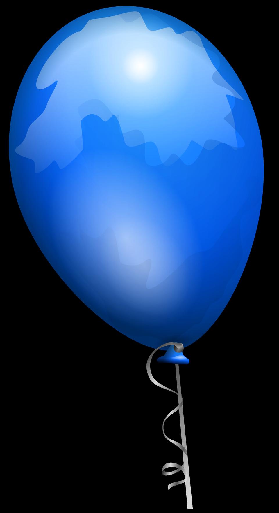 Blue toy balloon