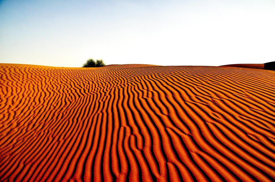 ゴビ砂漠の美しい景色。