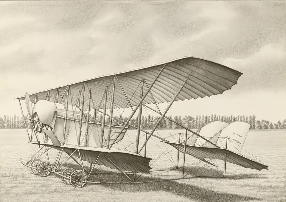 在棕褐色调实地旧飞机