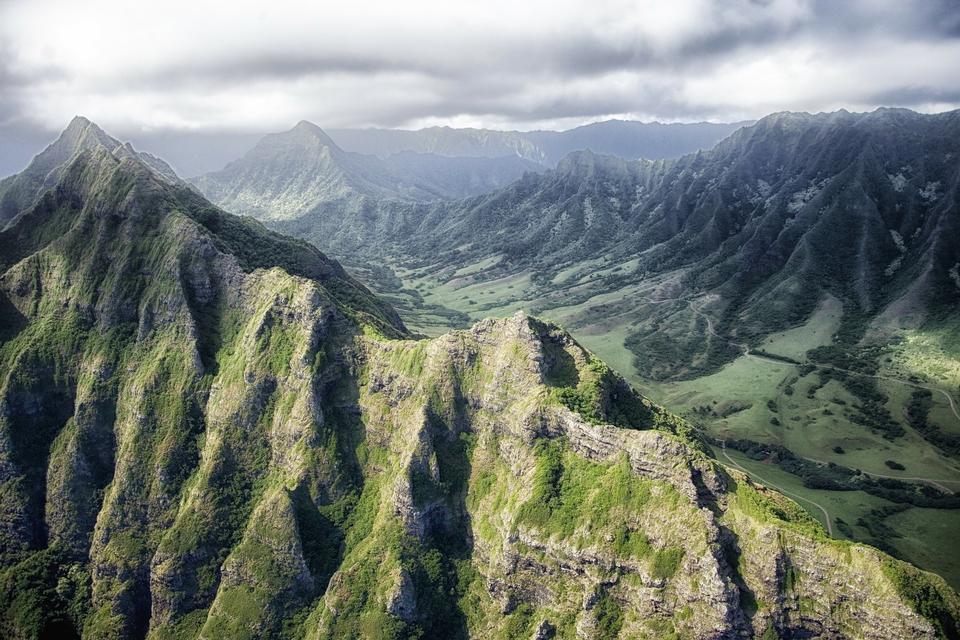 Cañón de Waimea en Hawaii aka gran cañón del pacífico