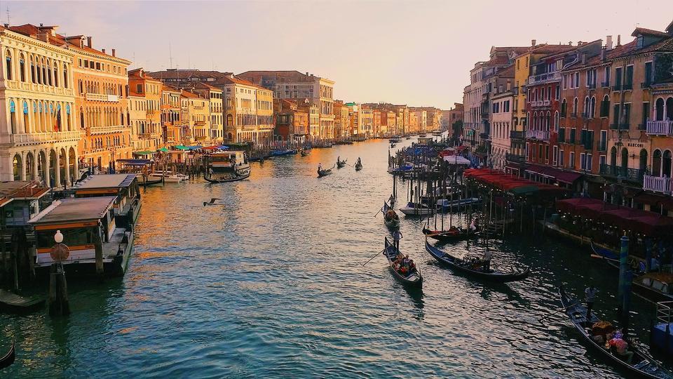 베니스, 이탈리아, 화창한 날