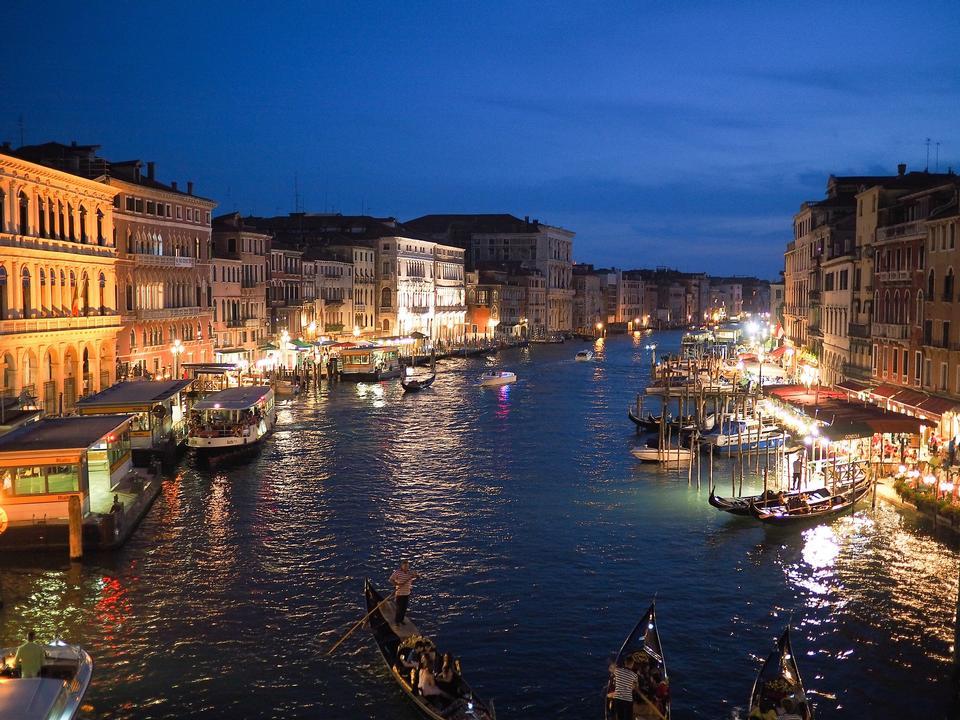 Grand Canal dans la nuit, Venise