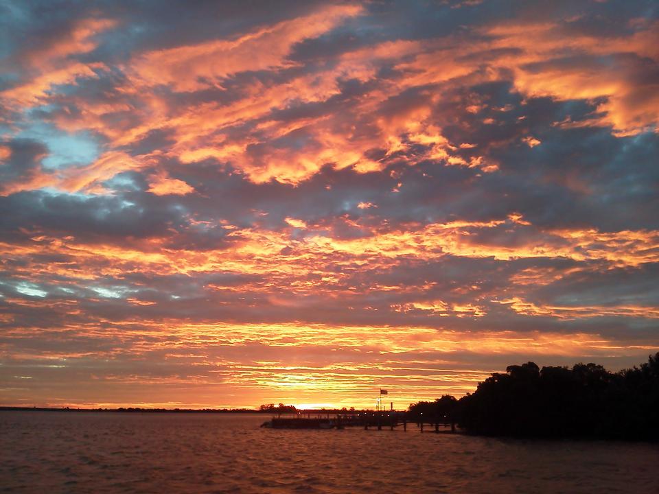 Sonnenaufgang Boca Grande Beach auf Gasparilla Island