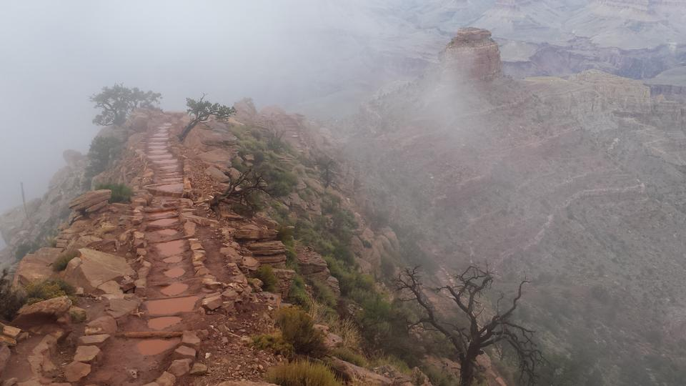 Bright Angel trail in Grand Canyon National Park