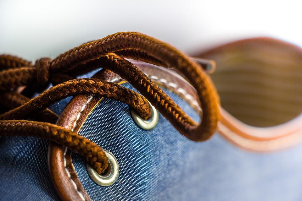 Jean mens shoes close up