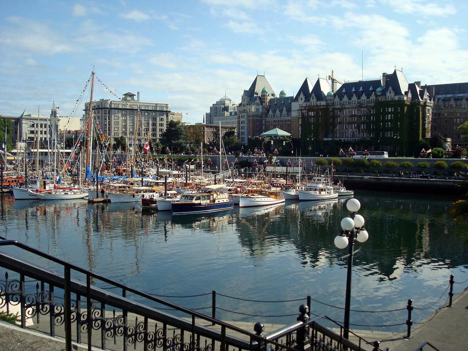 Parliament Buildings and Inner Harbour, Victoria, BC, Canada