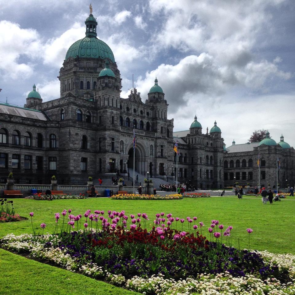 Canadian Parliament Building in Victoria British Columbia