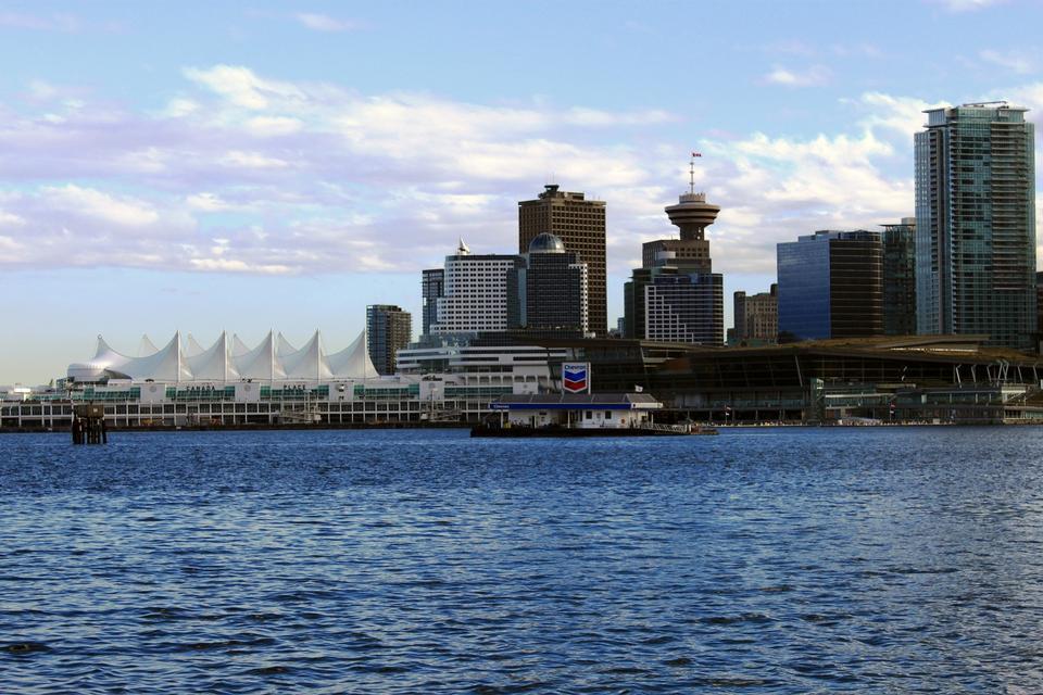 밴쿠버의 스카이 라인 브리티시 컬럼비아, 캐나다