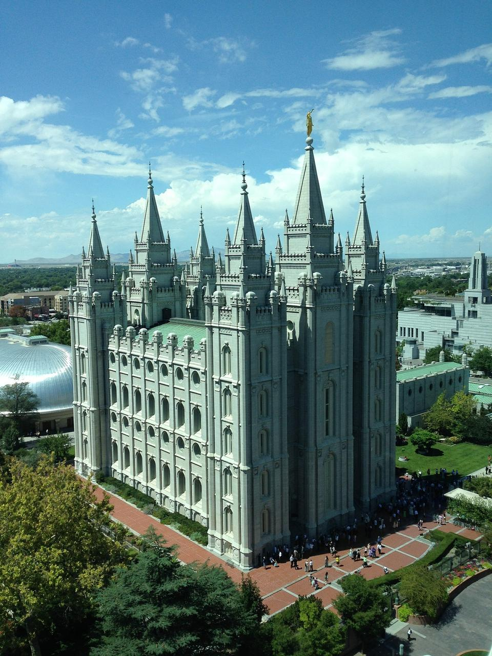 The Salt Lake City, Utah LDS (Mormon) temple