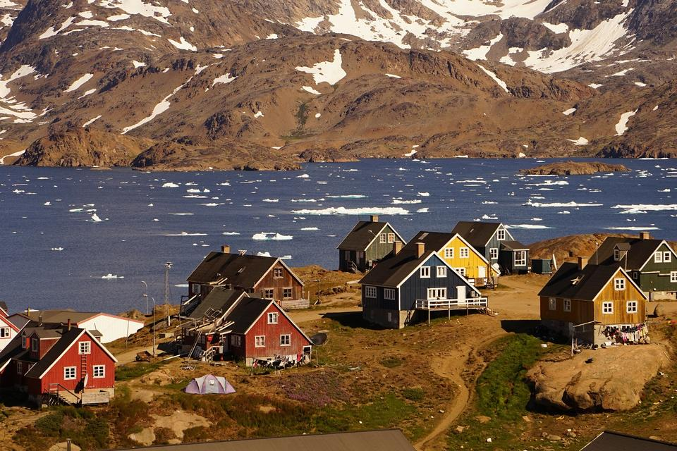 Colorful houses in Tasiilaq, East Greenland