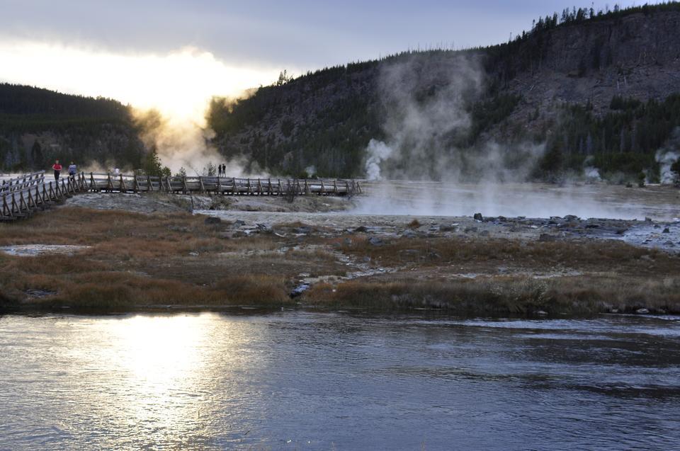 Blue Geyser Pool at Yellowstone