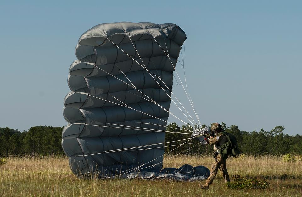 An Airman Special Operations Wing lands