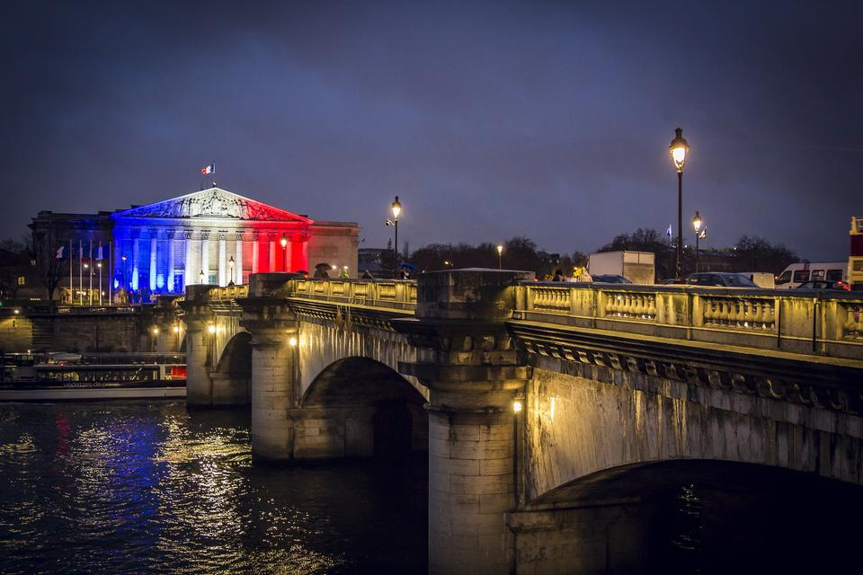 París Francia Europa Bandera francesa famosa del turismo