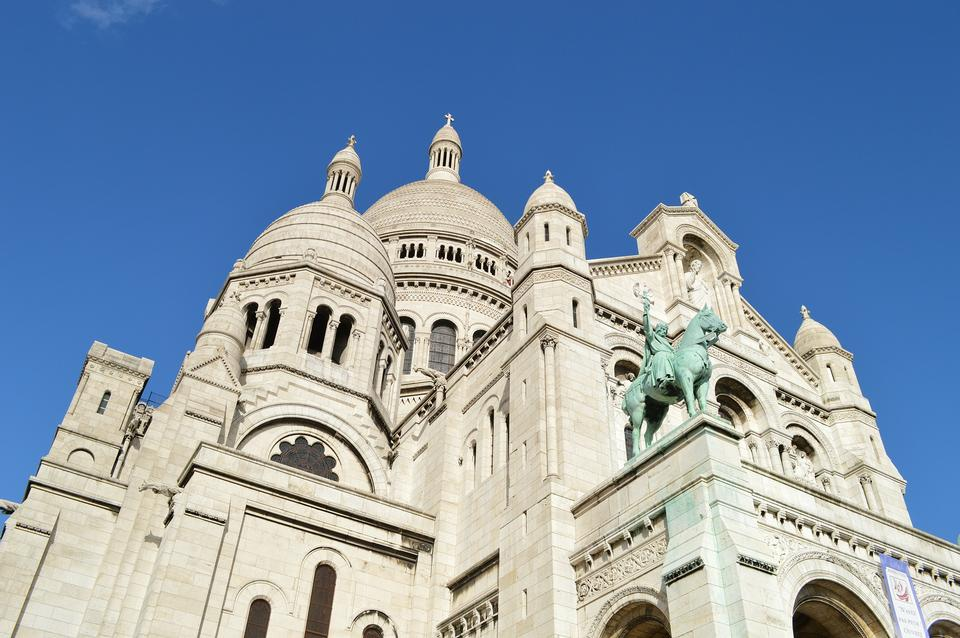 Vue de la basilique du Sacré-Coeur à Paris, France