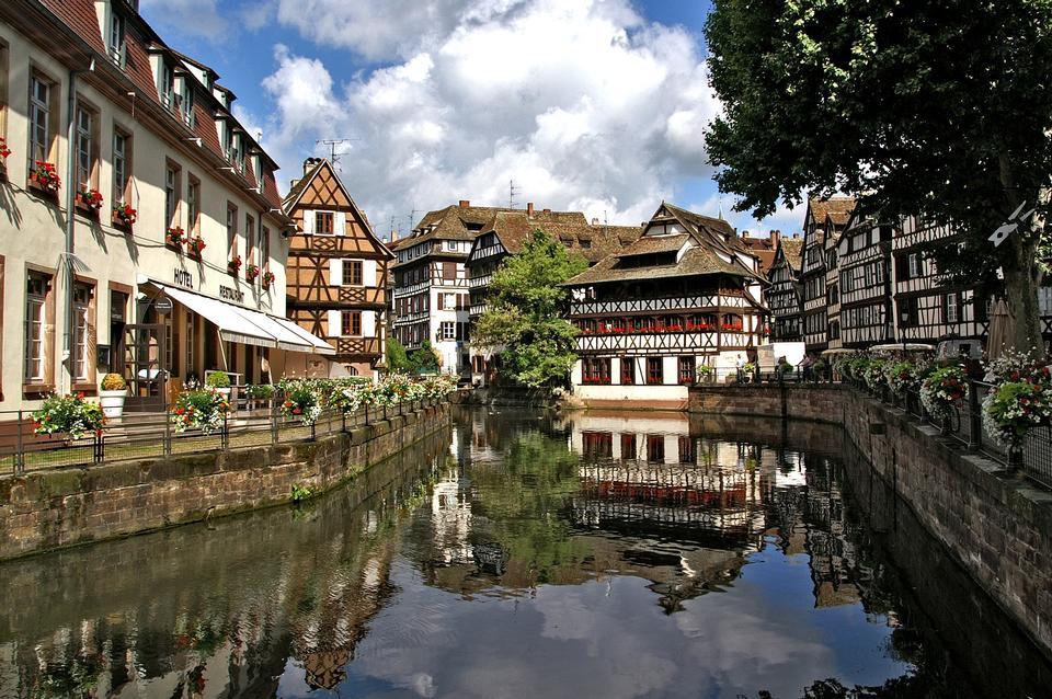 Strasbourg France Alsace Truss Water Channel