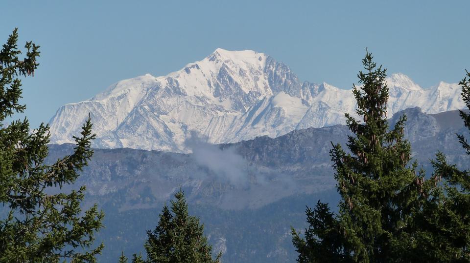 法國雪山勃朗峰阿爾卑斯山