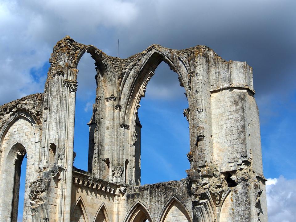 Maillezais Cathedral St Peter Maillezais Ruin
