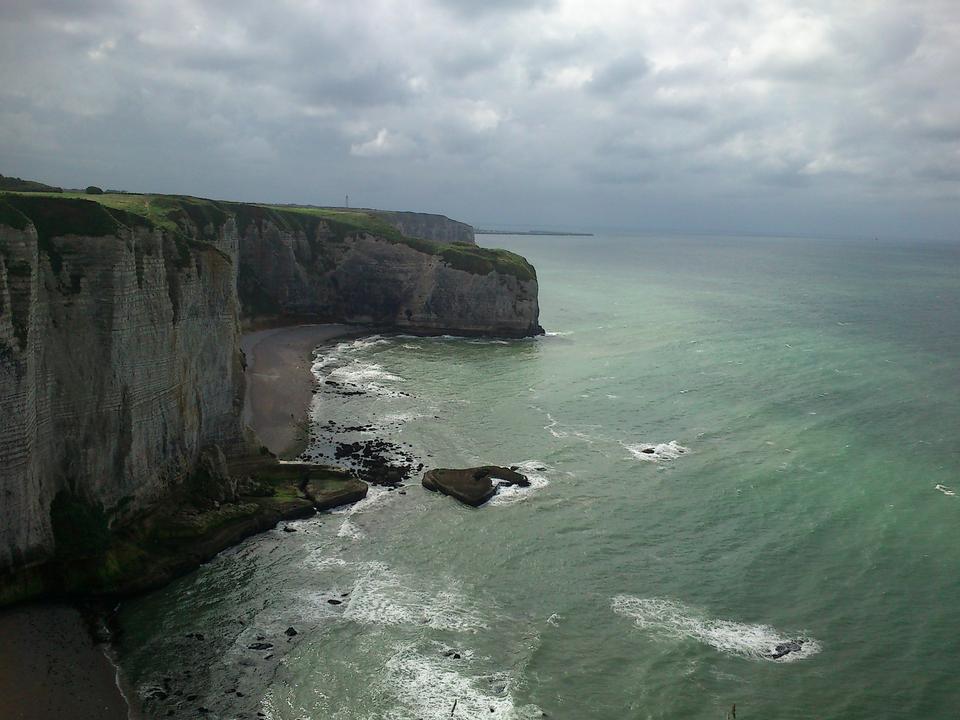 Этрета Normandie Регион Франция Cliffs