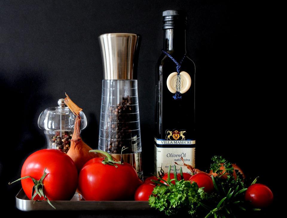 Mediterranean Food Tomatoes Red Eat Cook