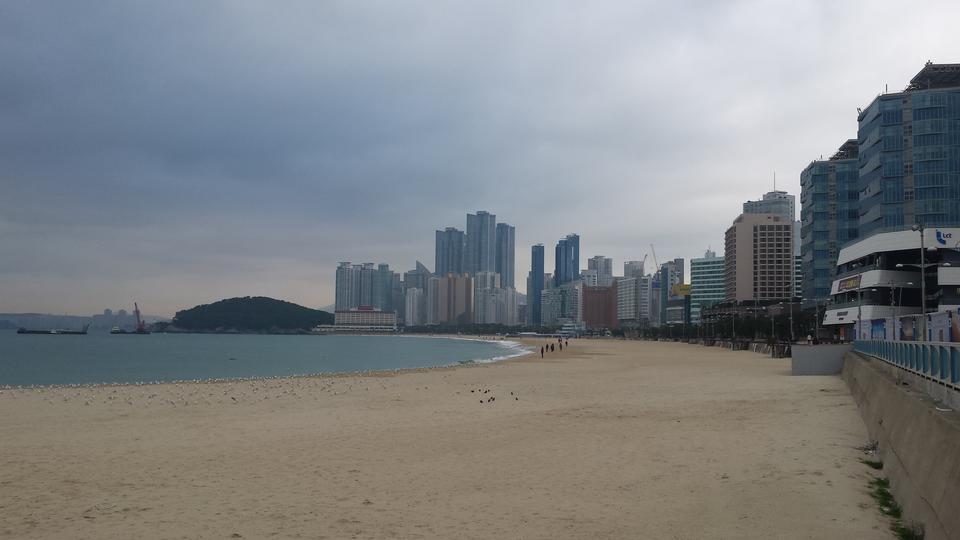 Busan, Corée plage Haeundae
