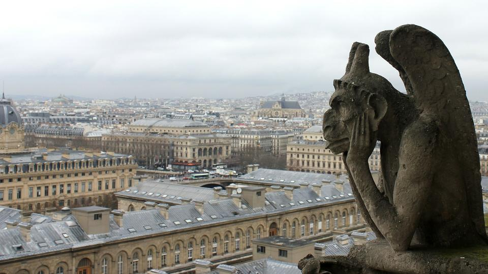 Notre Dame of Paris: Stryge and demon, most famous of all Chimera