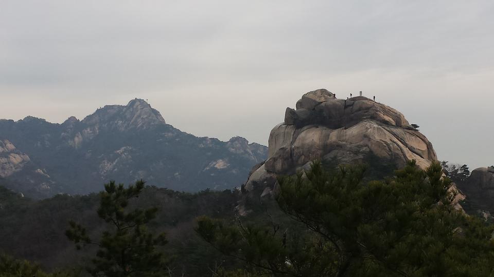 Bukhansan mountains in Seoul, South Korea