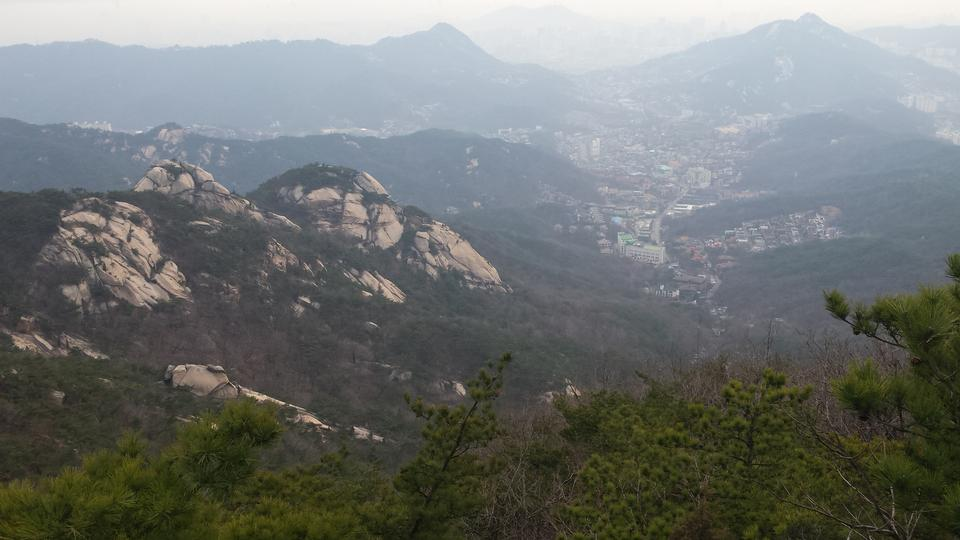 ソウル、韓国の北漢山の山