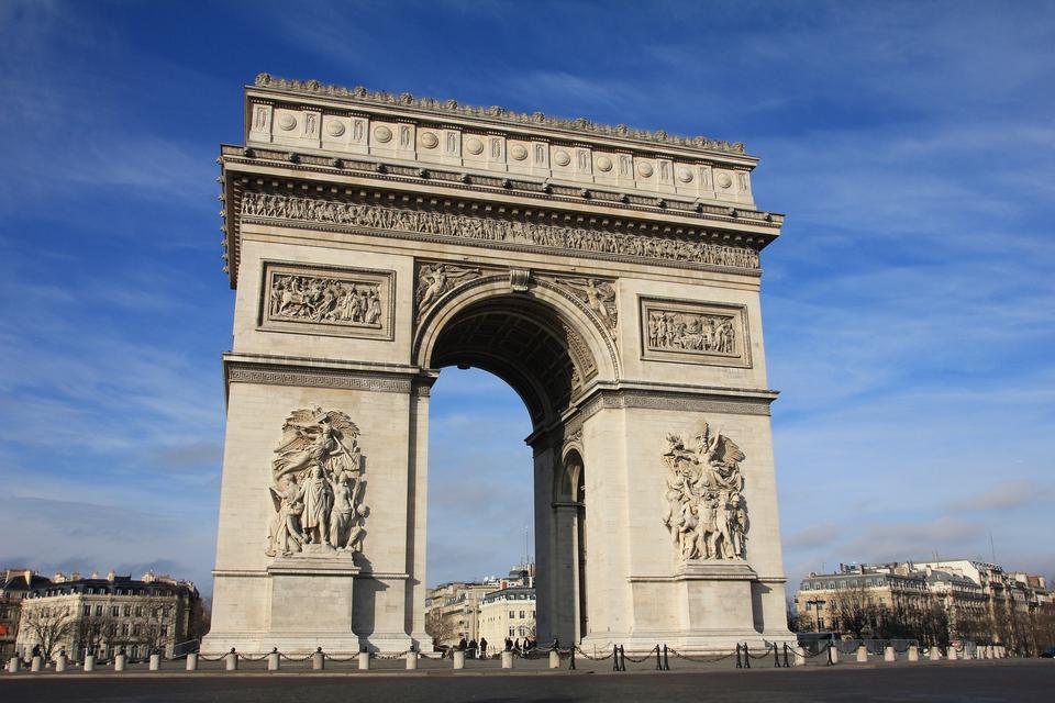 Arc de Triomphe - Arch of Triumph, Paris, France