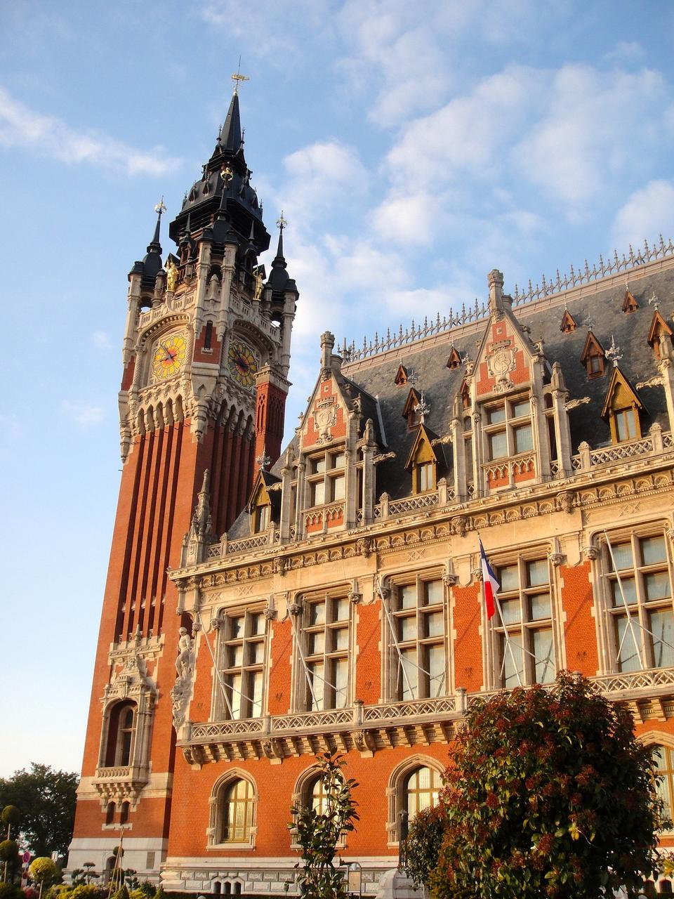 Town Hall Calais France Town Hall Tower Building