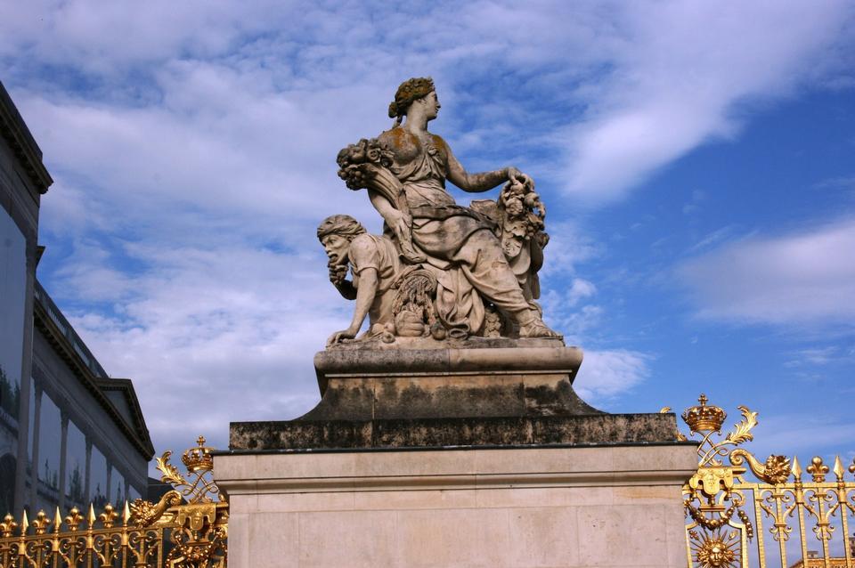 estatua de la mujer, Versailles, Paris, Francia