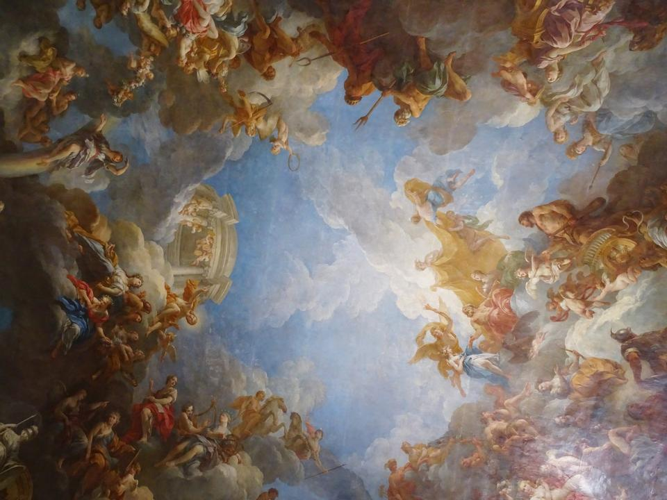 Interior of Chateau de Versailles (Palace of Versailles)