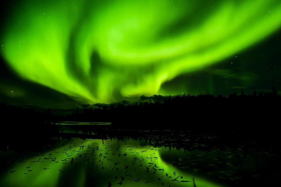 Aurora Borealis - landscape of the Arctic