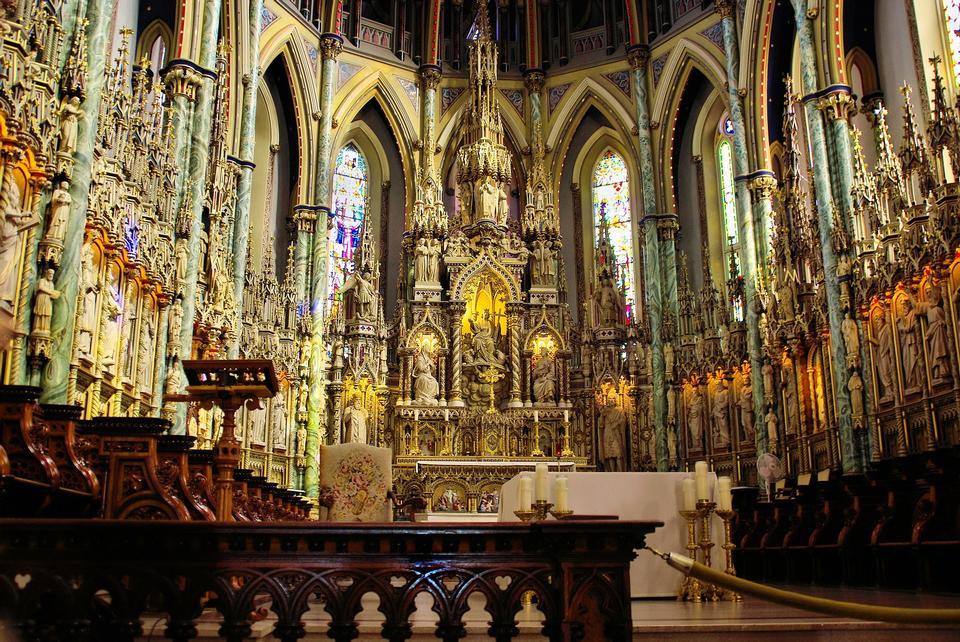 Intérieur de la cathédrale Notre-Dame Basilique, Ottawa, Ontario, Canada