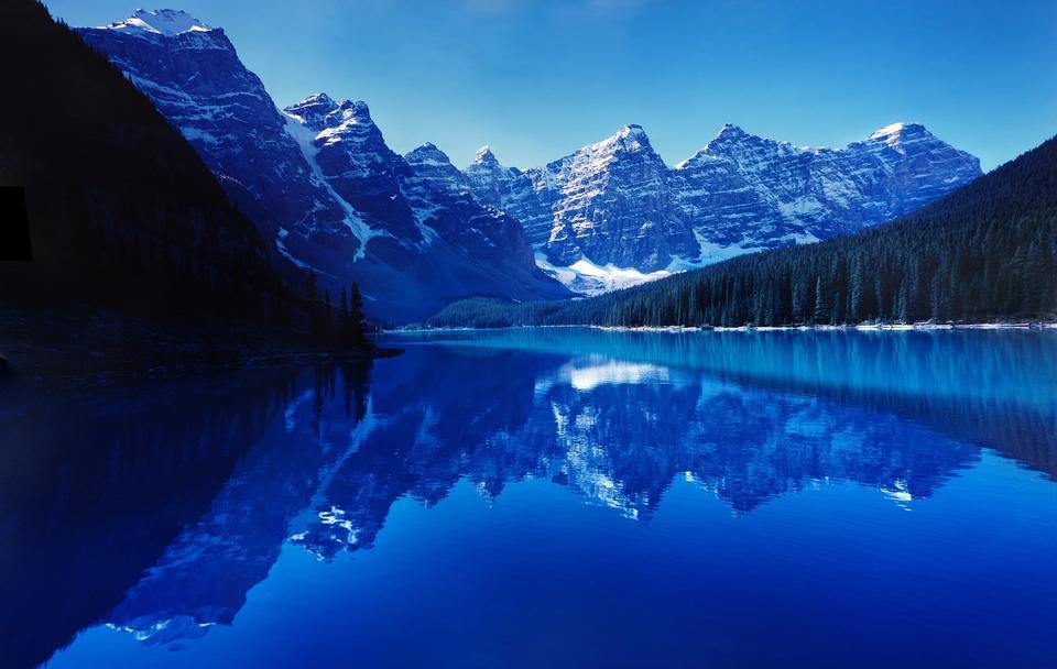 Moraine See Panorama im Banff-Nationalpark, Alberta, Kanada