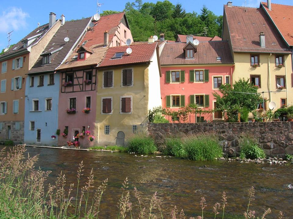 France, the village of Thann in Haut Rhin