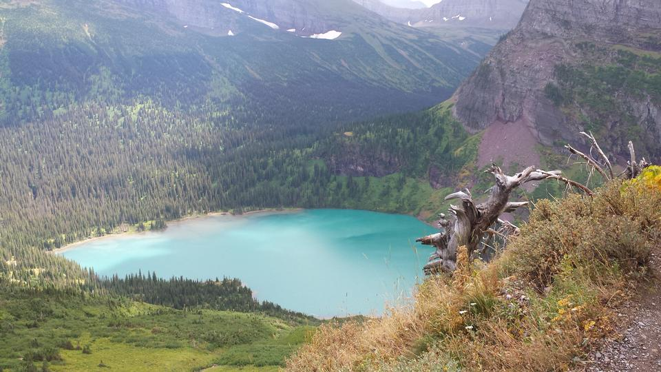 St Mary lake in Glacier National Park in Montana