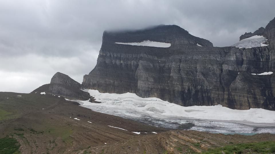 Grinnell glacier in Many Glaciers, Glacier National Park, Montana
