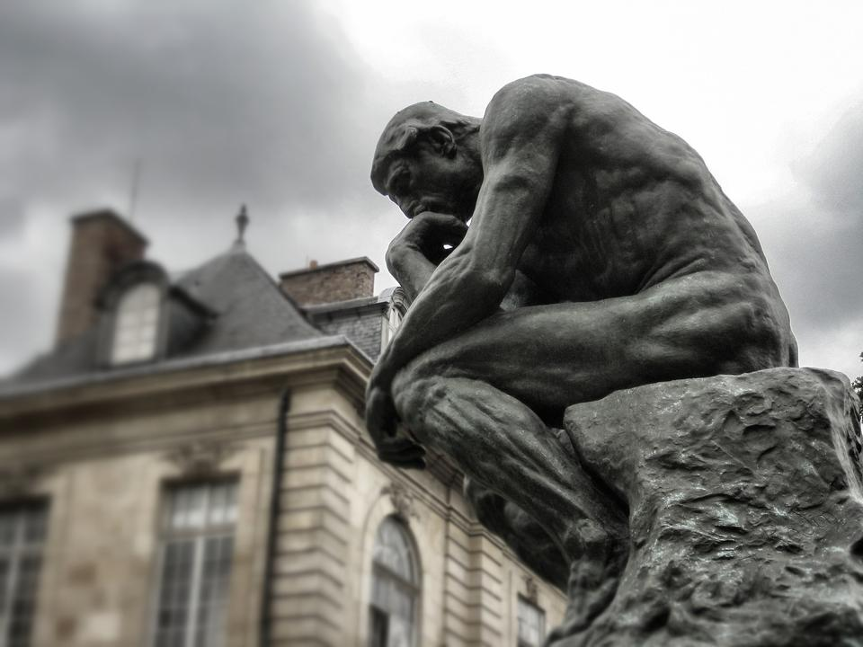 The Thinker Rodin Paris Sculpture Museum Bronze