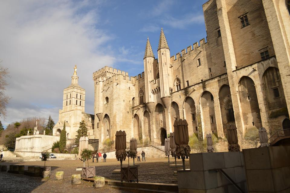 Avignon France Castle Architecture Historical